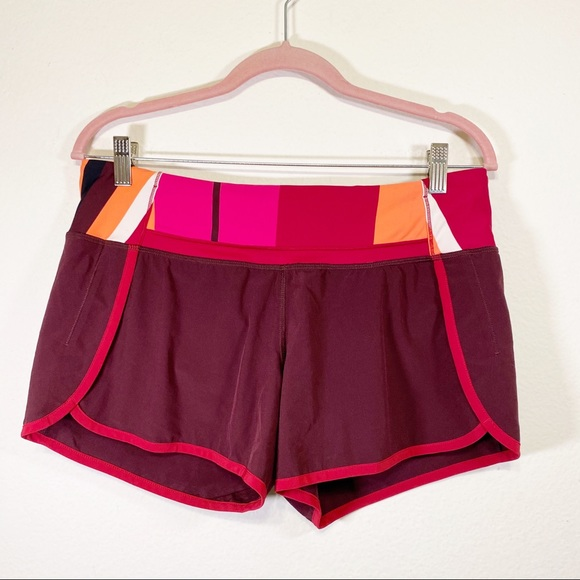 Lululemon Run Times Short 4-way Stretch Burgundy